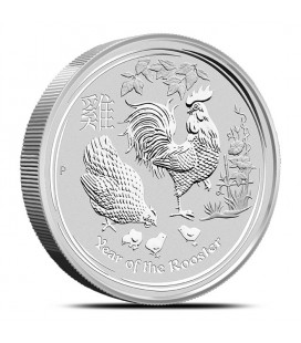 10 kilo Silver Year of the Rooster Coin   Perth Mint Lunar Series II-2017
