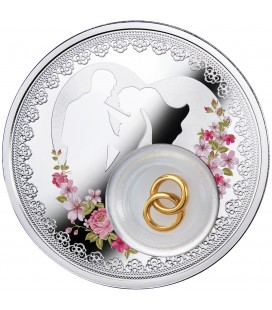 Wedding coin, two US dollars
