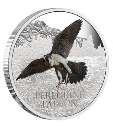 Birds Of Prey Silver Coin - Peregrine Falcon