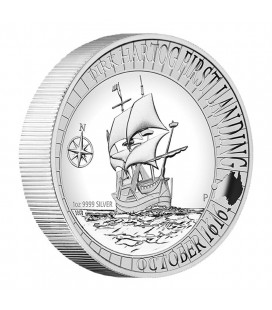 DIRK HARTOG AUSTRALIAN LANDING 1616 - 2016 1OZ SILVER PROOF HIGH RELIEF COIN