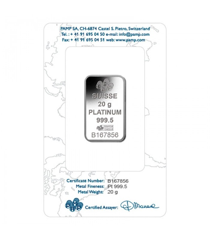 Pamp 20 Gram Platinum Bar