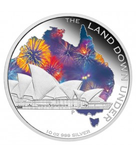 The Land Down Under – Sydney Opera House 10 Oz Silver Proof Coin 2013