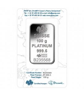 PAMP 100 Gram Platinum Bar