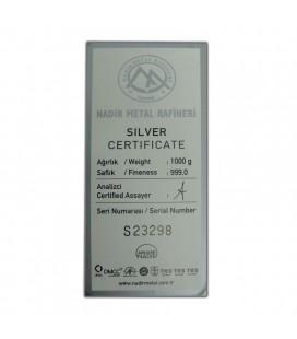 Nadir 1 KG 999 Silver Bar