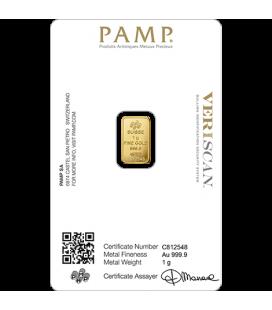 PAMP 1 Gram Gold Bar