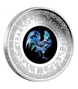 Australian Opal Lunar Series – 2017 Year of the Rooster 1oz Silver Proof