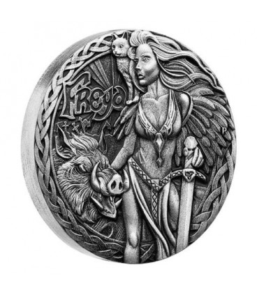 Norse Goddesses – Freya 2017 2oz Silver Antiqued High Relief Coin