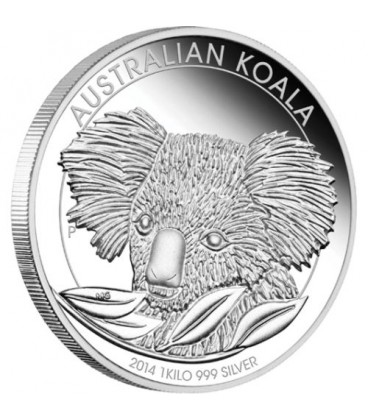 Koala 1 Kilo Silver Proof Coin 2014