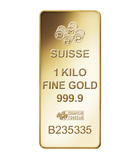 Fortuna Gold Rectangular Ingot - 1 Kg