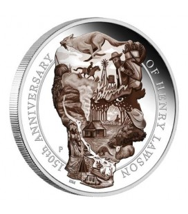 Henry Lawson 150th Anniversary 2017 5oz Silver Proof Coin