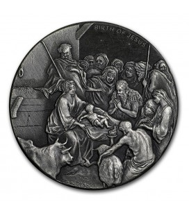 Biblical Series (THE BIRTH OF JESUS)- THE NATIVITY - 2016 2 oz Silver Coin