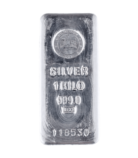 Emirates 1 Kilogram Silver Cast Bar 999.0