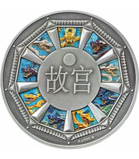 Forbidden City - Magnificent Palace of Beijing 500 CFA Francs Silver Coin - Cameroon 2017