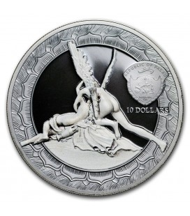 2016 PALAU $10 CUPID & PSYCHE 2OZ SILVER PROOF