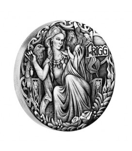 Norse Goddesses Frigg 2017 2oz Silver Antiqued High Relief Coin