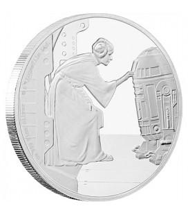 Star Wars Classic: Princess Leia™ 1 Oz Silver Coin