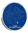 Star Wars Ships: Millennium Falcon™ 1oz Silver Coin