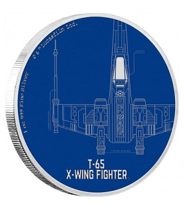 Star Wars Ships: T-65 X-Wing Fighter™ 1oz Silver Coin