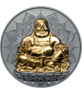 LAUGHING BUDDHA 2 oz .999 SILVER PROOF COIN