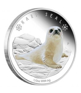 Polar Babies - Harp Seal 2017 1/2oz Silver Proof Coin