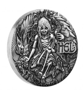 Norse Goddesses – Hel 2017 2oz Silver Antiqued High Relief Coin