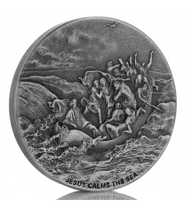 Biblical Series (Jesus Calms the Sea) 2 oz silver coin-2017