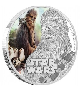 Star Wars: The Last Jedi - Chewbacca™ Silver Coin