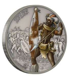 Warriors Of History - Zulus Silver Coin