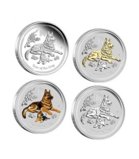 Lunar Silver Coin Series II 2018 Year of the Dog 1oz Silver Typeset Collection