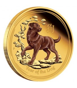 Australian Lunar Gold Coin Series II 2018 Year of the Dog 1oz Gold Proof