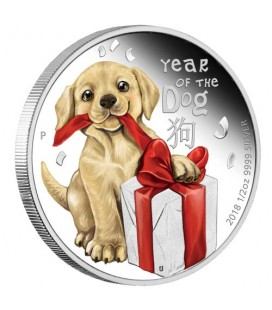 Baby Dog 2018 1/2oz Silver Proof Coin