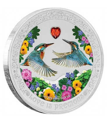 Love Is Precious Silver Coin - Kingfishers