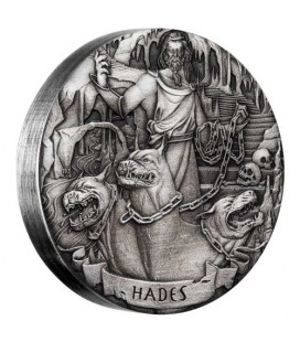 Gods of Olympus Hades 2017 2oz Silver Antiqued Coin