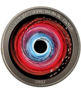 Supermassive Black Hole 1oz Silver Antique Coin