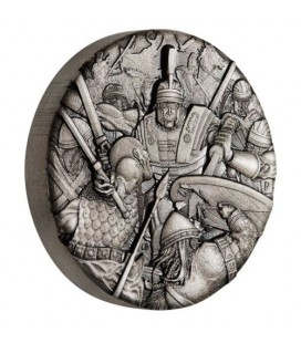 Warfare - Roman Legion 2018 2oz Silver Antiqued High Relief Rimless Coin