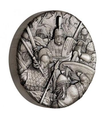 Warfare - Roman Legion 2018 2oz Silver Antiqued High Relief Rimless Coin