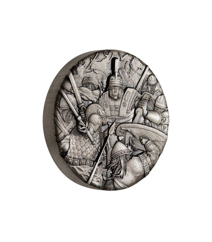 Roman Legion 2018 2oz Silver Antiqued High Relief Rimless Coin