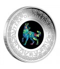 Australian Opal Lunar Series 2018 Year of the Dog 1oz Silver Proof Coin