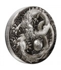 Dragon 2018 5oz Silver Antiqued Coin