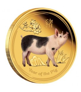 Lunar Gold Coin Series II 2019 Year of the Pig 1oz Gold Proof