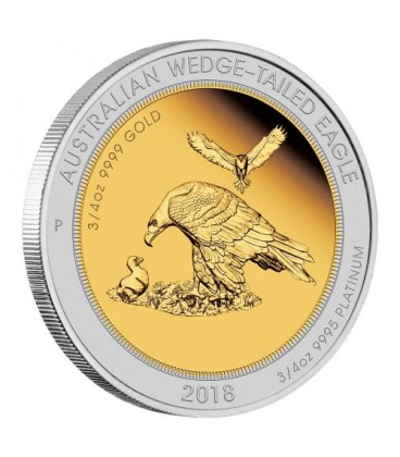 Australian Wedge-tailed Eagle 2018 1.5oz Bi-Metal Proof Coin