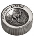 Kangaroo 2019 2 Kilo Silver Antiqued High Relief Coin