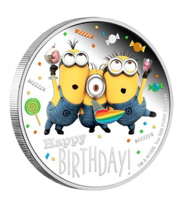 Minion Happy Birthday 2019 1oz Silver Proof Coin