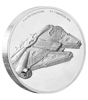 Star Wars - Millennium Falcon™ Ultra High Relief 2oz Silver Coin