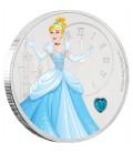 Disney Princess With Gemstone - Cinderella 1oz Silver Coin
