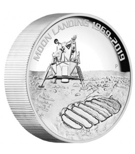 Moon Landing 2019 5oz Silver Proof High Relief