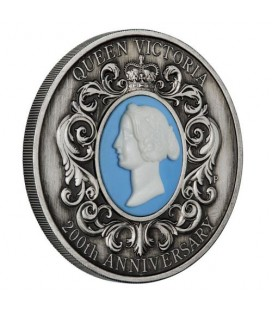 Queen Victoria 200th Anniversary 2019 2oz Silver Antiqued Cameo