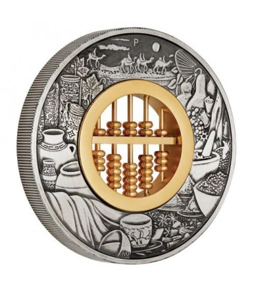 Abacus 2019 2oz Silver Antiqued Coin