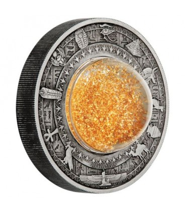 Golden Treasures of Ancient Egypt 2019 2oz Silver Antiqued Coin