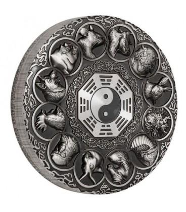 Lunar Animals 2019 5oz Silver Antiqued Coin